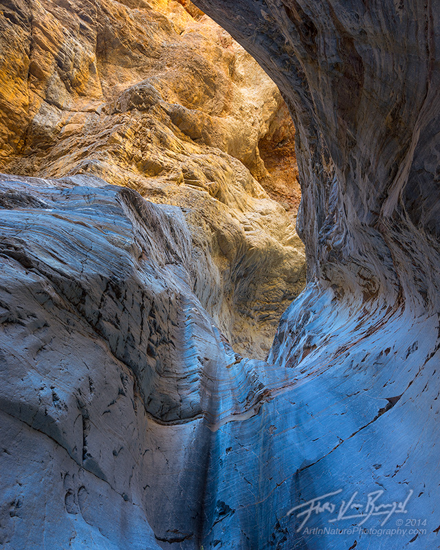Reflected Light, Canyon Dryfall, Death Valley National Park, photo