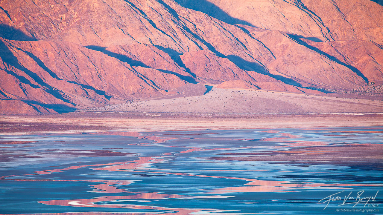 Salt Flats Reflections, Death Valley National Park, California, photo