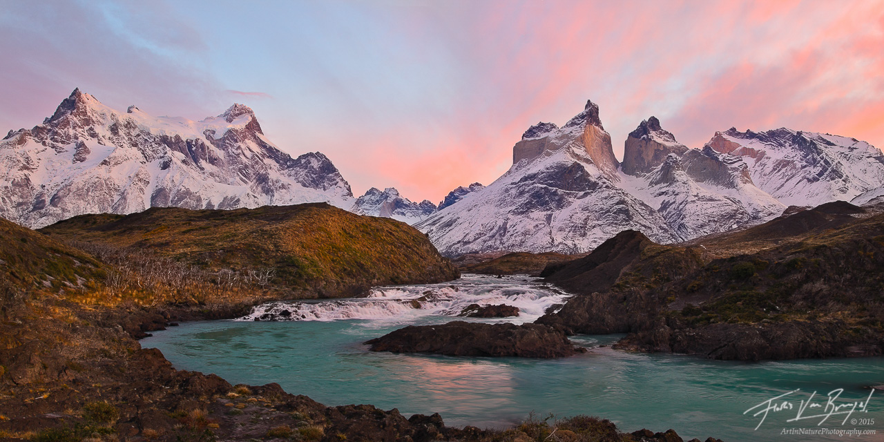 Torres del Paine, Salto Grande, Panorama, photo