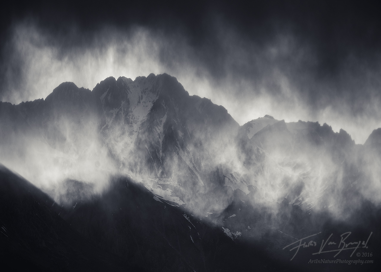 Sierra Storm, Inyo Mountains, Black and White, photo