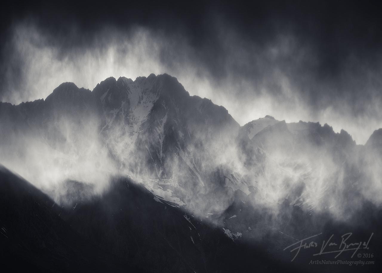 Sierra Storm, Inyo Mountains, Black and White, photo