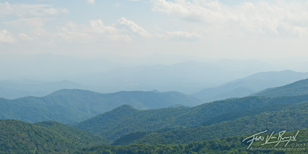 Smoky Mountains Vista, Pisgah National Forest, North Carolina, photo
