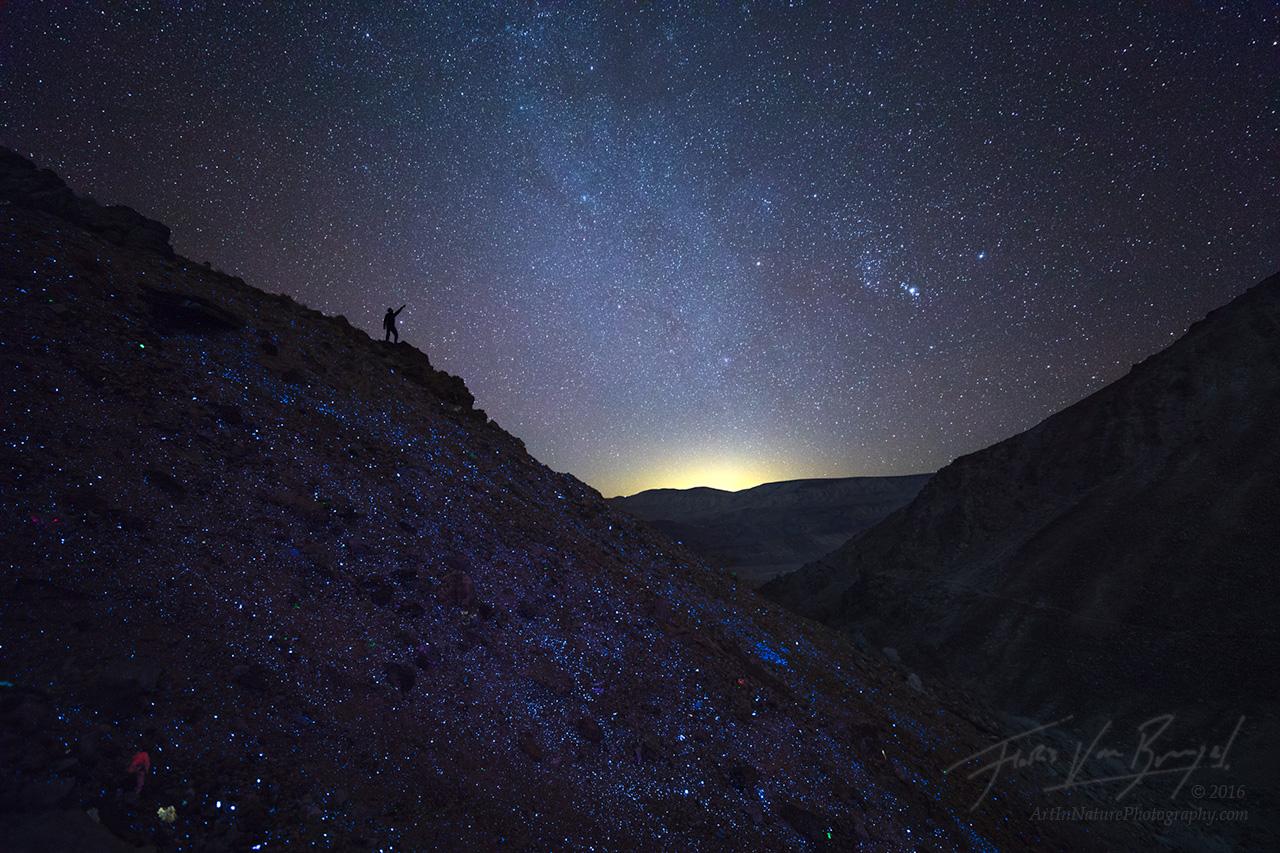 Fluorescent Minerals, Stars, Night, photo