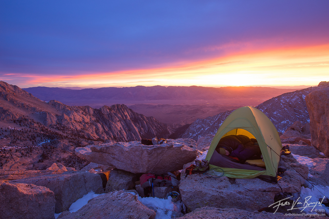 Summit Camp, Tent in the Sierra, California, photo