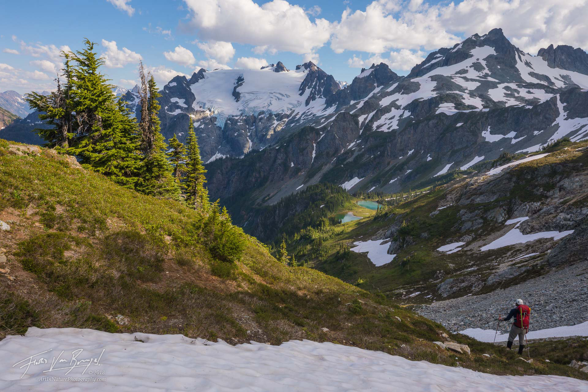 Ptarmigan Traverse, Cascades, Pacific Northwest, photo
